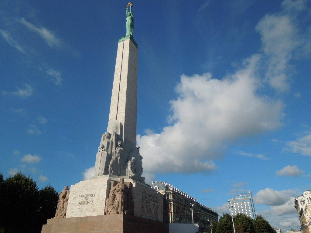The Freedom Monument in Riga, Latvia