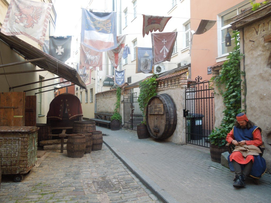A street in the Old Town of Riga, Latvia