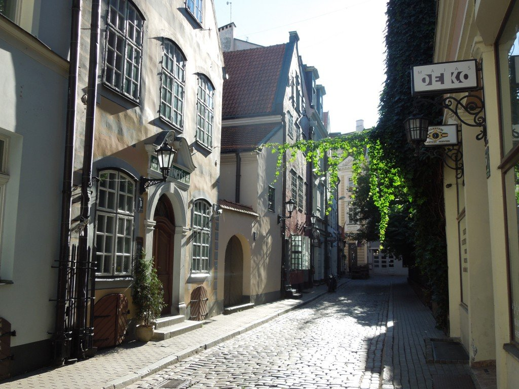 A street in Riga Old Town, Latvia
