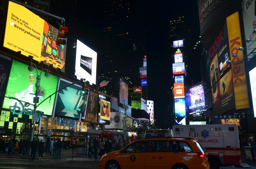 Times Square, New York, at night