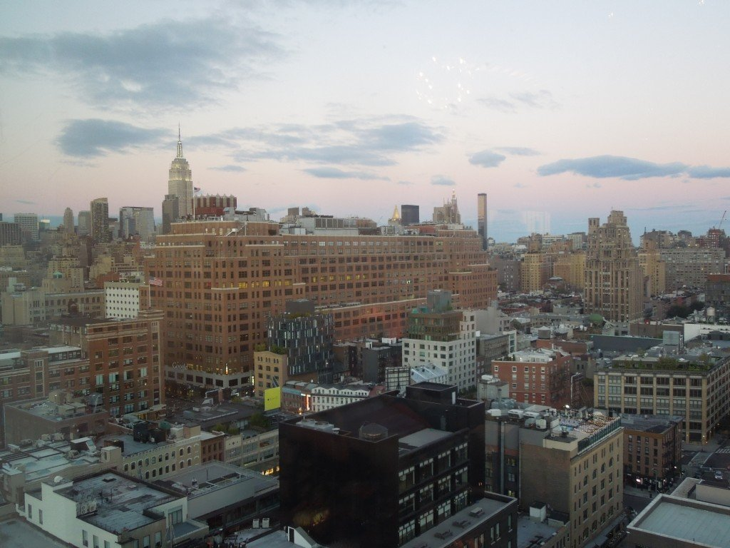 The view from the rooftop bar of the Standard Hotel, New York, including the Empire State Building on the left