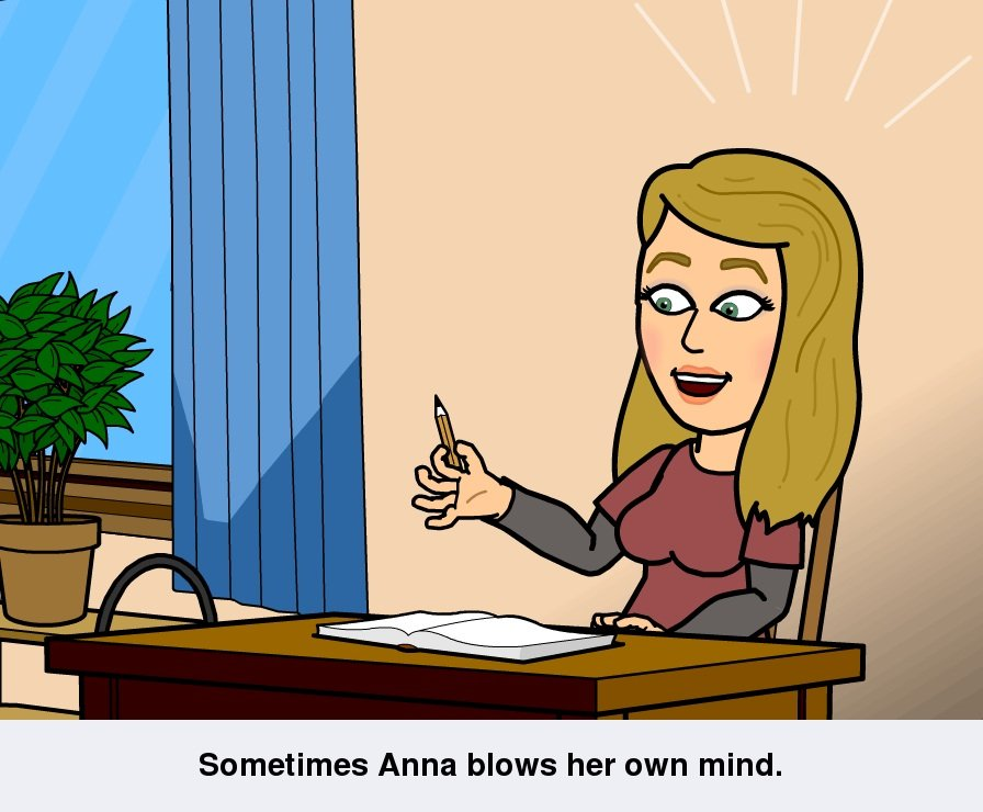 Bitsrips comic: Sometimes Anna blows her own mind
