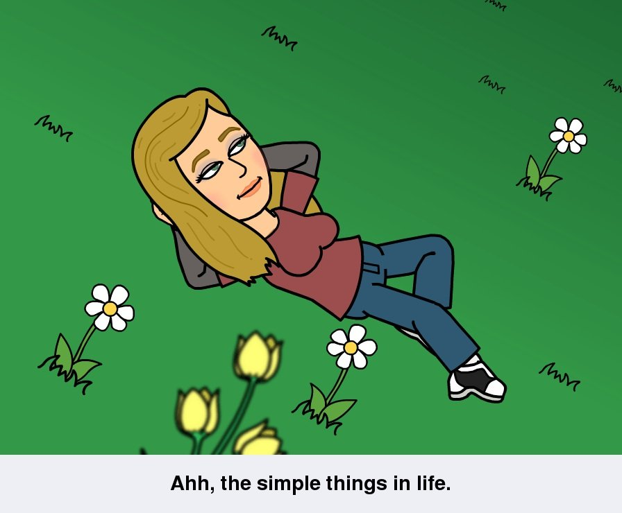 Bitstrips comic: Ahh, the simple things in life