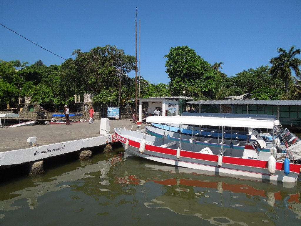 A lancha in Livingston, Guatemala