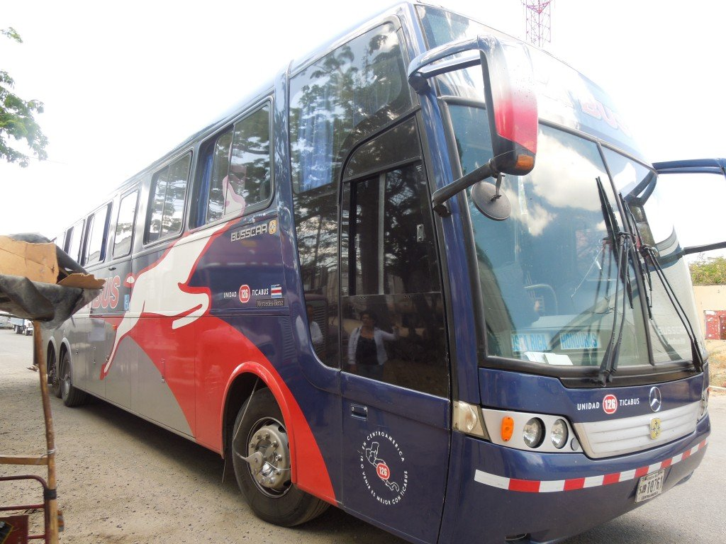 Tica bus in Honduras