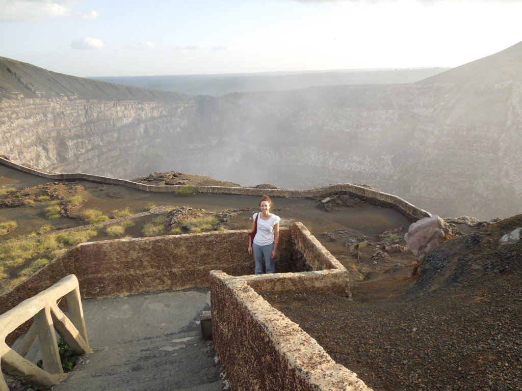 Staircase up to view the Masaya volcano