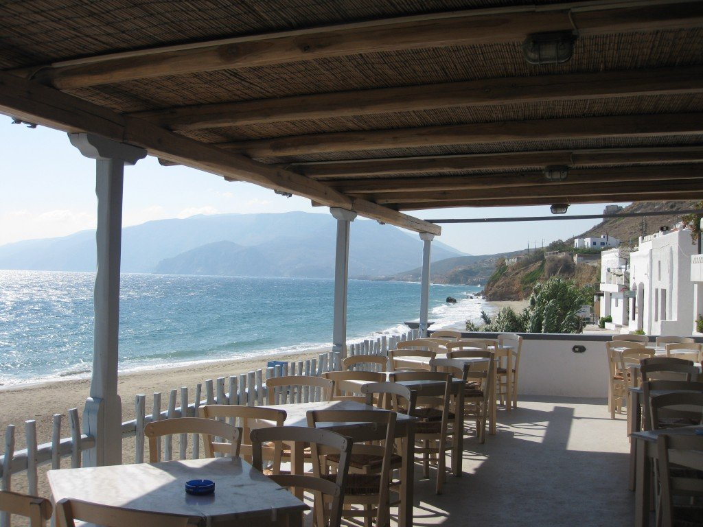 Restaurant terrace on Skyros