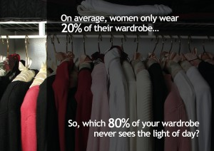 On average, women only wear 20% of their wardrobe