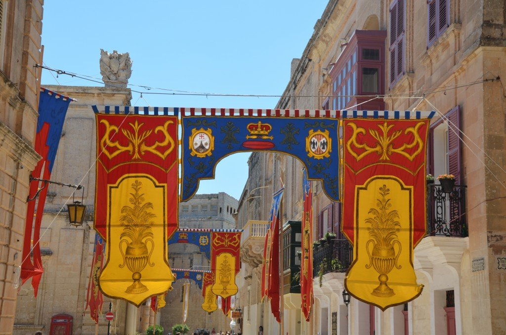 Banners on the streets of Mdina