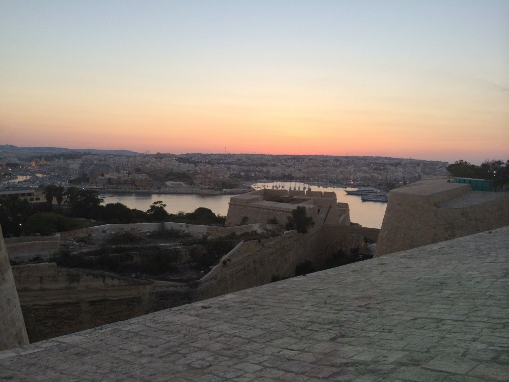 Views over the harbour from Valletta