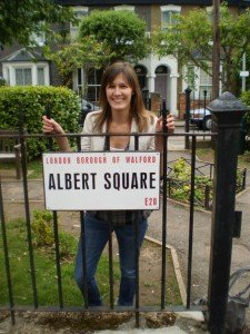 Deanne on set at Eastenders