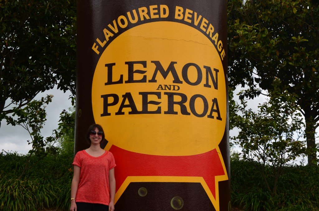 Giant bottle of Paeroa