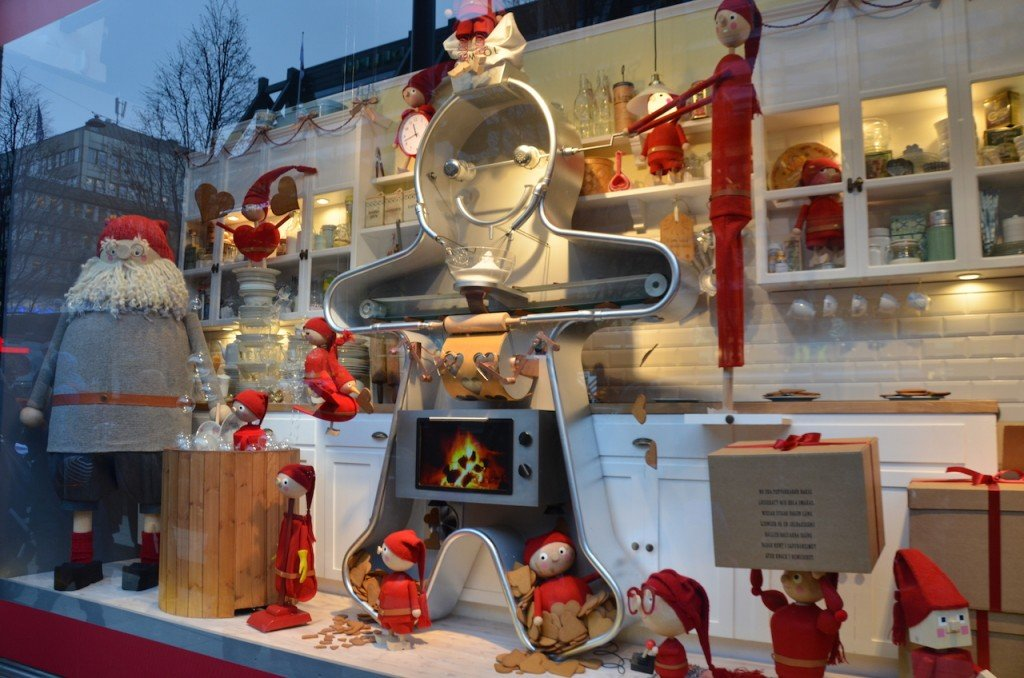 NK Christmas windows
