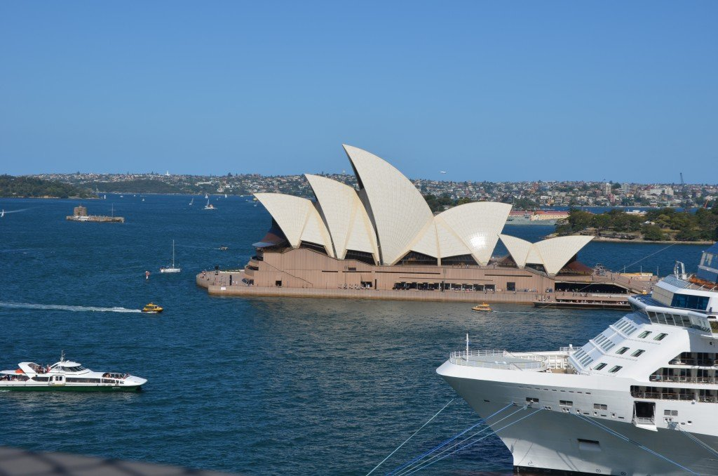 Sydney Harbour Opera House from the Sydney Harbour Bridge
