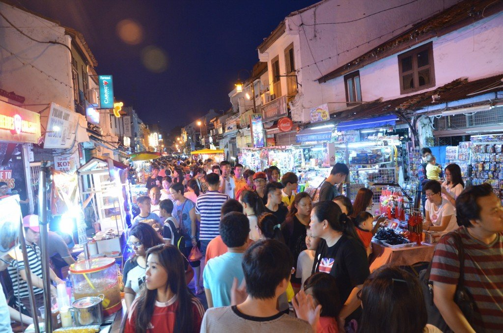 Jonker Street at night