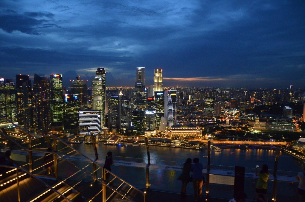 View from Marina Bay Sands Hotel