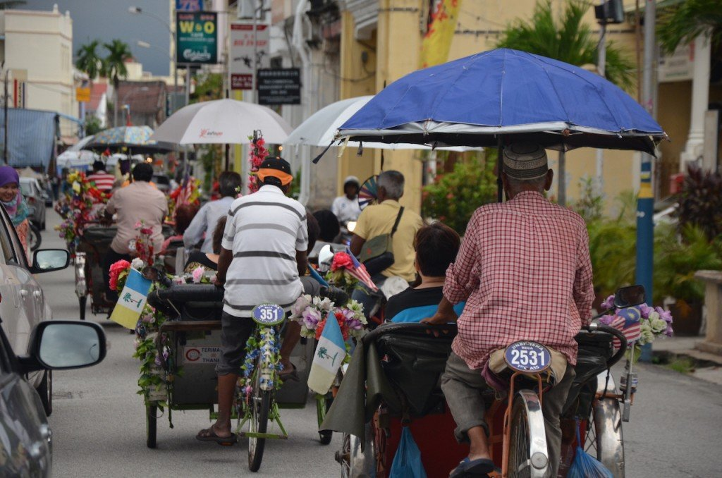 Rickshaws in George Town