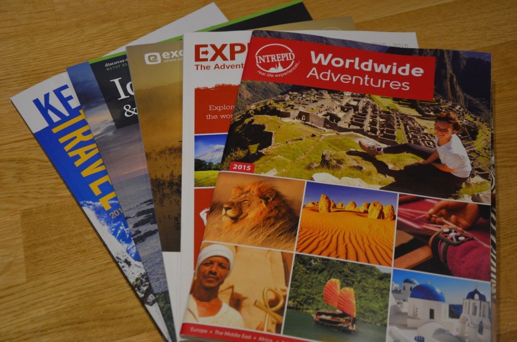 Travel company brochures