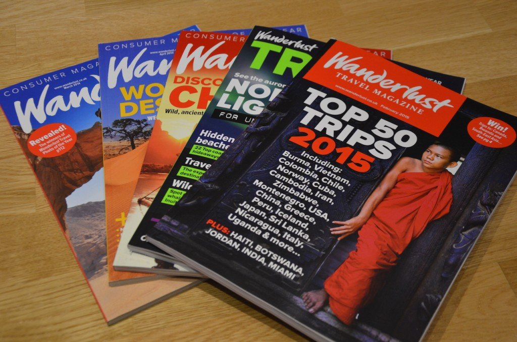 With a £10 off voucher included with my conference entry, I took the opportunity to stock up on copies of Wanderlust Magazine, which I'm now salivating over...