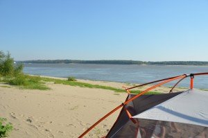 Tent on the sandbank