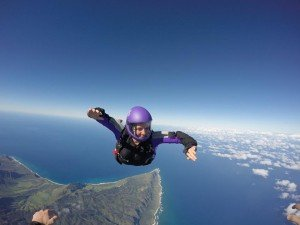 Jana Schuberth skydiving in Hawaii