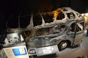 Burned-down bus