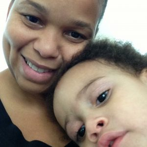 Amber and son