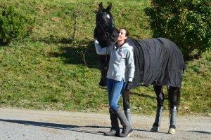 Rachel Reunis with her horse