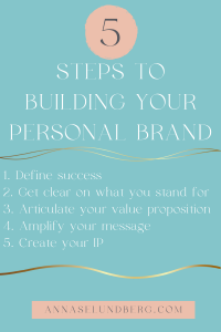 5 steps to building your personal brand graphic