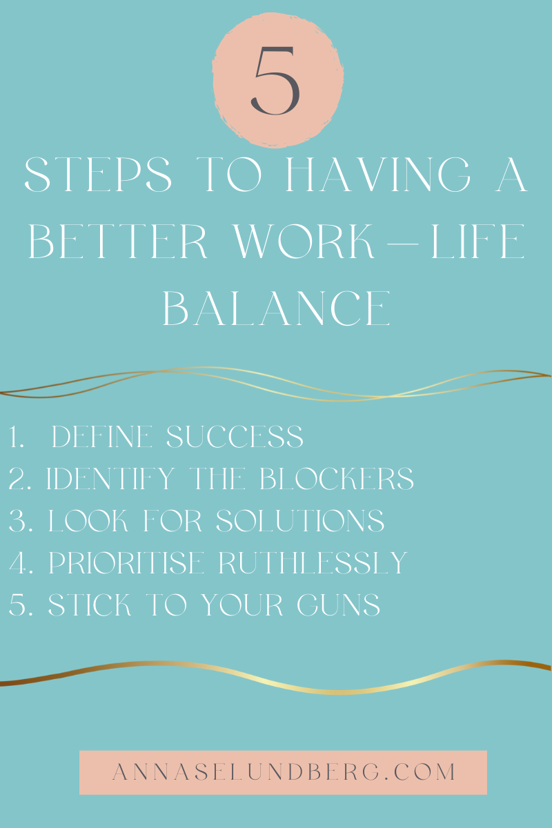 how to have a better work-life balance